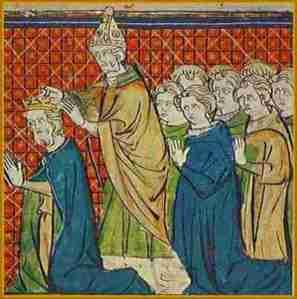 El Papa León III corona emperador a Carlomagno.