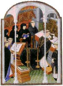 El canto llano es un elemento central en la vida monástica.
