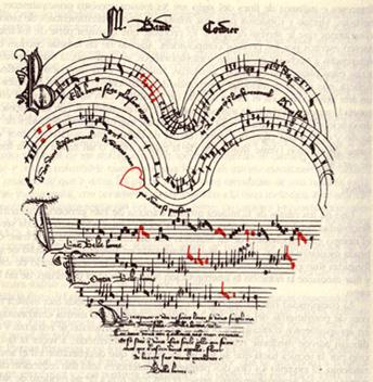 Resultado de imagen de caligrafia musical ars subtilior