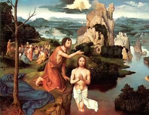Bautismo de Jesús. Escuela flamenca.