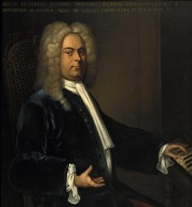 Retrato anónimo de G.F. Händel (1734) por un artista desconocido.