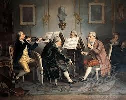 Cuarteto de cuerda interpretado en una casa privada.