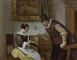 Lección de música [ca.1665] de Jan Steen.
