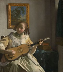 Muchacha con guitarra [ca.1672] de Vermeer de Delft.