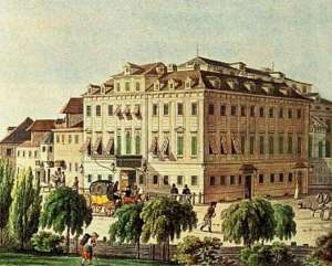 Grabado del Teatro An der Wien, a comienzos del siglo XIX.