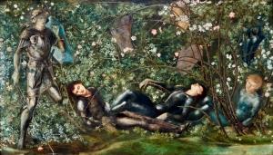 El caballero y los muchachos durmientes [1869], de Sir Edward Burne-Jones.
