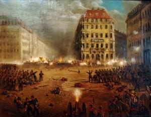 Revolución en Dresde en 1849.