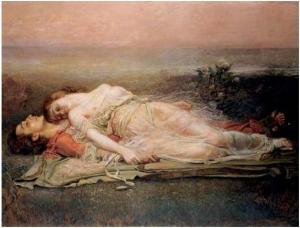 Tristán e Isolda [1910] de Rogelio de Egusquiza.