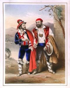 Una escena de Fra Diavolo [1830] de Auber, según una litografía en color de John Brandard de ca.1858.