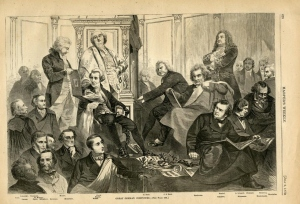 """""""Grandes compositores alemanes"""" en una publicación periódica de 1870."""