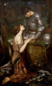 Lamia y el soldado, óleo de John William Waterhouse.
