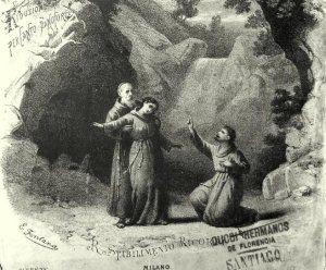 Escena de La forza del destino de Giuseppe Verdi, ópera basada en el drama del Duque de Rivas.