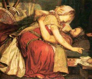La muerte de Tristán [1902], de Marianne Stokes.