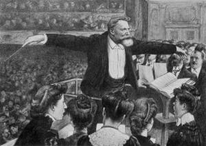 El director de orquesta Édouard Colonne, por Hector Dumas