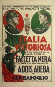 Cartel propagandístico fascista.