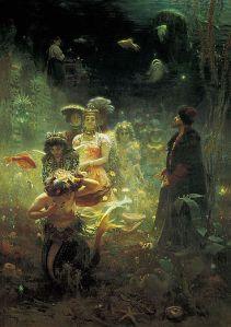 Sadko en el reino subacuático [1876], tema tratado por Rimsky-Korsakov en su ópera Sadko [1896].