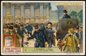 Altercados callejeros tras la representación de Tannhäuser en París.