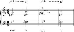 """Interpretación """"clásica"""" del acorde de Tristán"""