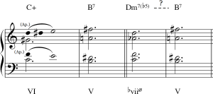 """Interpretaciones """"clásica"""" (mediante apoyaturas) y """"moderna"""" de los cc. 10-11"""