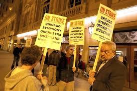 Huelga en la Sinfónica de Chicago por los recortes aplicados para subsanar las pérdidas acumuladas de 10 M$ durante los últimos 10 años (2012).