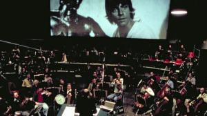 John Williams grabando la banda sonora de Star Wars con la Sinfónica de Londres.