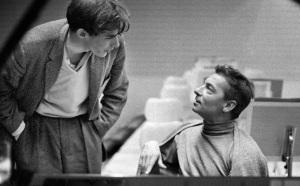 Dos astros del firmamento clásico: El pianista Glenn Gould y el director Herbert von Karajan.