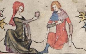 El amor cortés constituye la principal temática de la poesía trovadoresca.