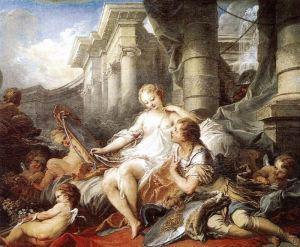 Renaud et Armide [1734], óleo de François Boucher.