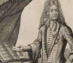 Jean-Baptiste Lully en un grabado de Bonnart