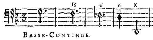 Bajo de la passacaille del Acto V de Armide de Jean-Baptiste Lully