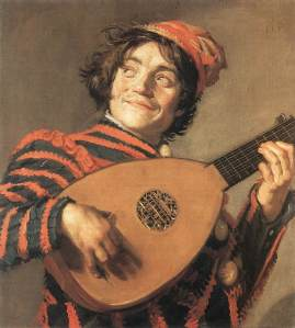 Bufón tocando el laúd, Frans Hals (1623).