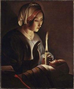 Santa Ana con el niño Jesús (ca.1650) de George de Latour.