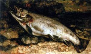 La trucha, óleo de Gustave Courbet.