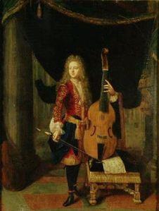 El violagambista Marin Marais en un retrato de juventud.