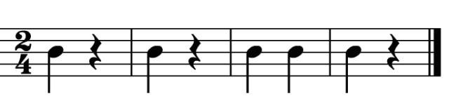 Ritmo característico del estilo turco en la música de Mozart.
