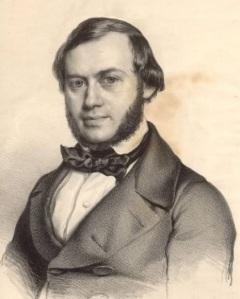 Ferdinand David, el violinista que estrenó la obra y asesoró a Mendelssohn acerca de la parte solista.
