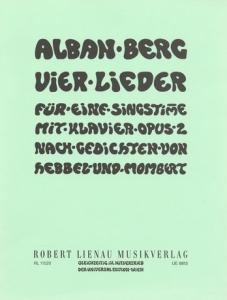Portada de los Vier Lieder op.2 de Alban Berg.