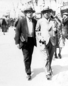 Anton Webern y Arnold Schönberg en los años 20.