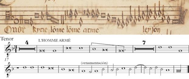 Tenor de la Missa L'homme armé de Guillaume Dufay (Kyrie I)