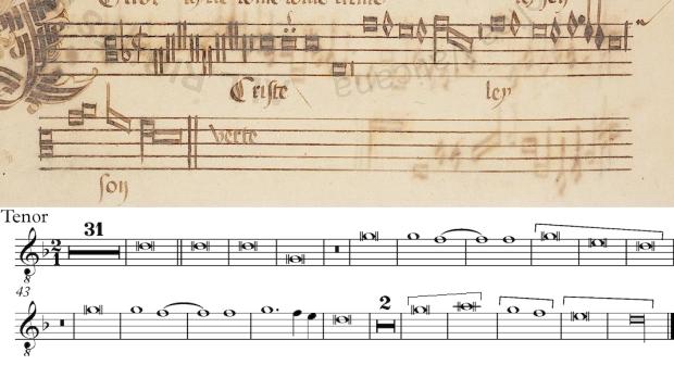 Tenor de la Missa L'homme armé de Guillaume Dufay (Christe)