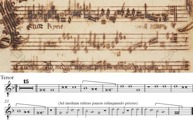 Tenor de la Missa L'homme armé de Guillaume Dufay (Kyrie II)