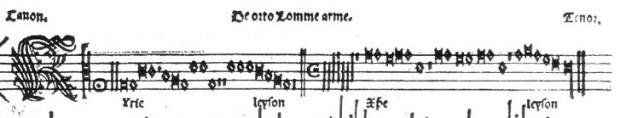 Secciones A y B de la melodía