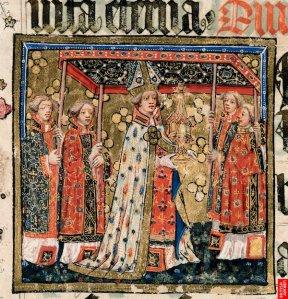 Procesión del Corpus Christi en el siglo XV (The Lovell Lectionary. Harley 7026).