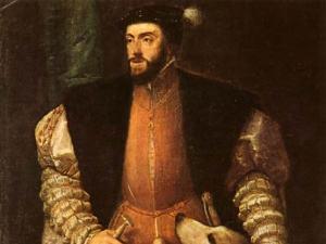 El emperador Carlos V, rey de España.