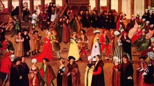 Geschlechtertanz, Augsburg, 1500.