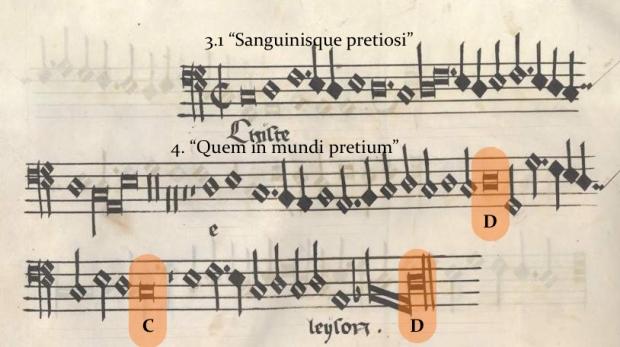 Christe (bajo) de la Misa Pange Lingua (Munich, Bayerische Staatsbibliothek, Musiksammlung, Musica MS 510).