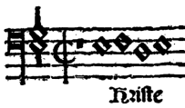 """Motivo auxiliar del Christe de la Misa """"Mille regretz"""" de Cristóbal de Morales."""
