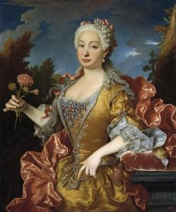 Retrato de la reina Bárbara de Braganza.
