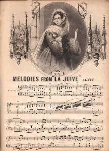 Selección de melodías célebres de La judía para piano.