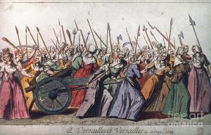 Litografía que representa el pueblo en armas en tiempos de la Revolución Francesa de 1789.